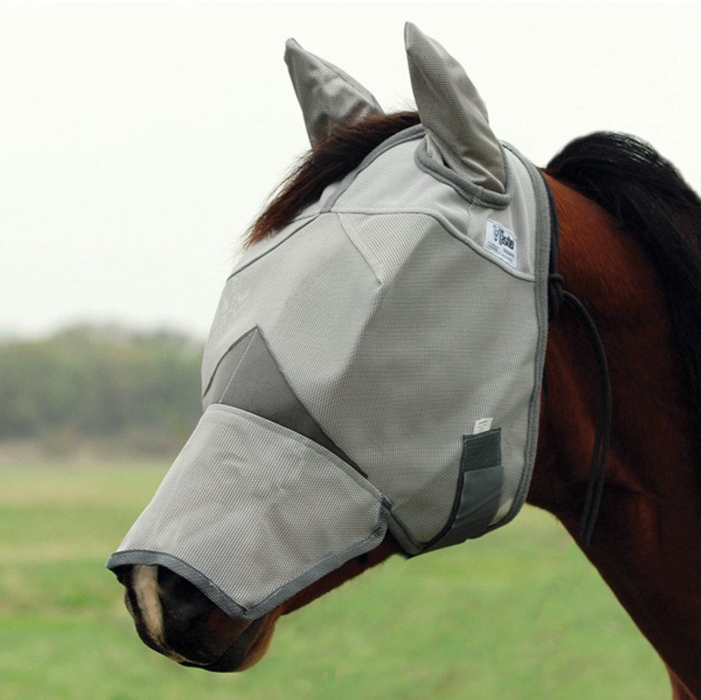 Cashel Crusader Fly Mask with Ears and Long Nose - Size: Horse by Cashel