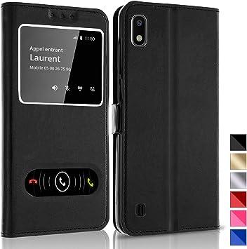 Funda Carcasa Negro con Ventanas para Samsung Galaxy A10: Amazon ...