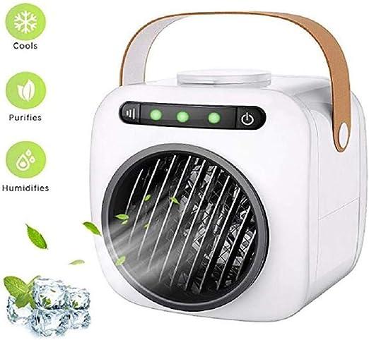 XYWISH Mini Ventilador de Escritorio con Aire Acondicionado Tanque ...