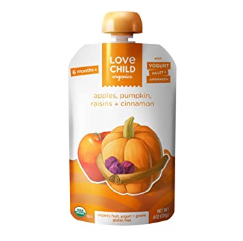 Love Niño Organics – yogur & Grano – Manzanas, calabaza ...