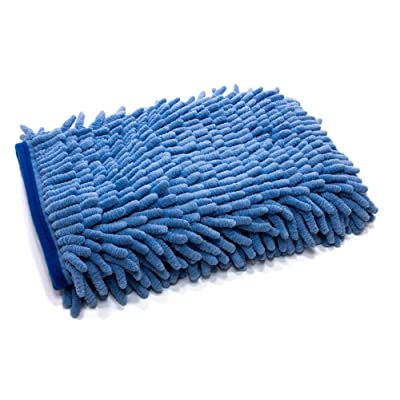 [Zero Cuff] Microfiber Wash Mitt (7 in. x 9 in.) 1pack (Blue): Automotive