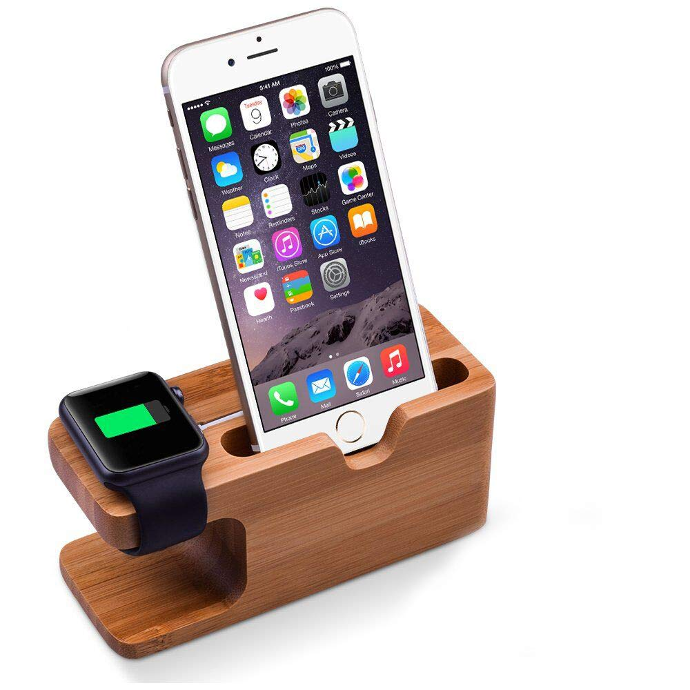 Elekin Apple Watch Stand Base de Cargador Soporte para iWatch y iPhone 6/6s/ iPhone 7/ Plus