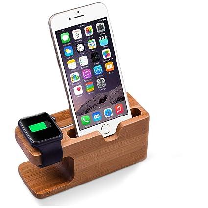 Elekin Apple Watch Stand Base de Cargador Soporte para iWatch y iPhone 6/6s/ iPhone 7/ Plus