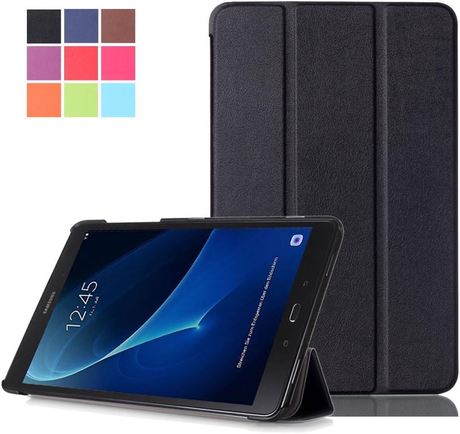 Carcasa Galaxy Tab A 10.1'',Samsung Tab A6 Funda - Flip Cover de PU Cuero Smart Case Protección Stand Funda para Samsung Galaxy Tab A 10.1 Pulgadas (2016) SM-T580N / T585N Tablet,Negro