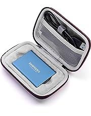 Esimen Hard Case for Samsung T5/T3/T1 Portable SSD 250GB 500GB 1TB 2TB Accessories Carry Bag Protective Storage Box (Black+Gray)