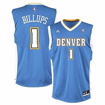 sale retailer 694bd af9a8 nba jerseys denver nuggets 1 chauncey billups blue jerseys