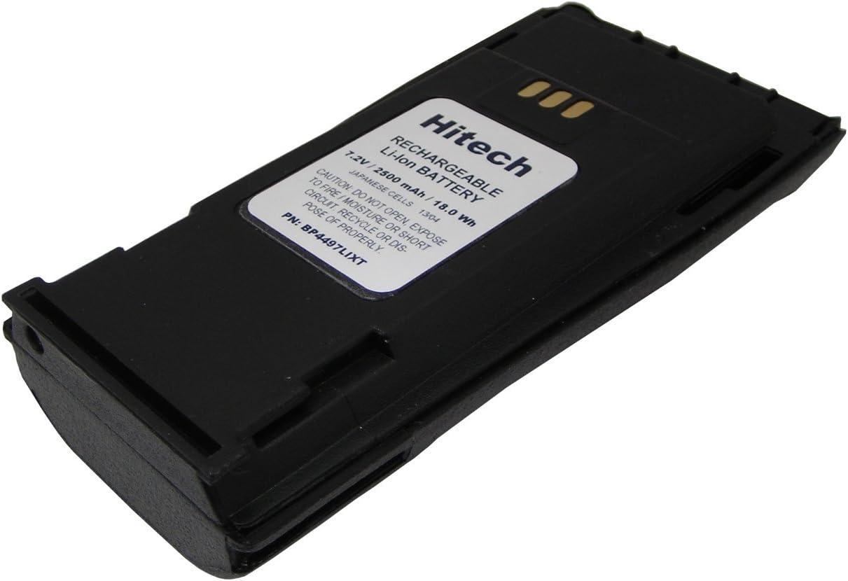 GP3188 CP160 CP380 2 Pack of NNTN4970 Replacement Batteries for Motorola CP040 and GP3688 2-Way Radios CP340 CP180 CP200 CP140 CP150 Hitech Li-Ion, 1800mAh PR400 EP450 CP360