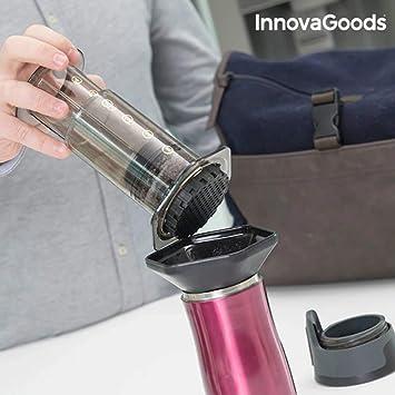 InnovaGoods Cafetera Manual a Presión, PP y TPE, Negro, 10x10x26 cm: Amazon.es: Hogar