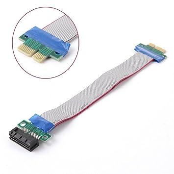 Amazon.com: PCI-E 1 X tarjeta elevadora Cable extensor cinta ...