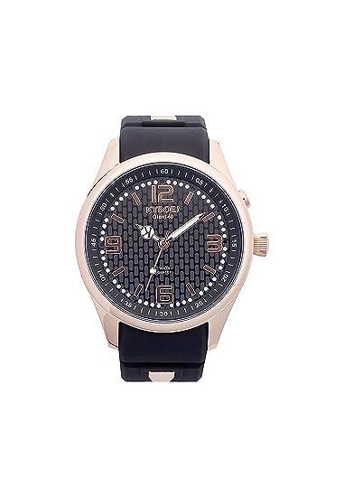 Kyboe Unisex Reloj de pulsera analógico cuarzo One Size, Negro, Negro