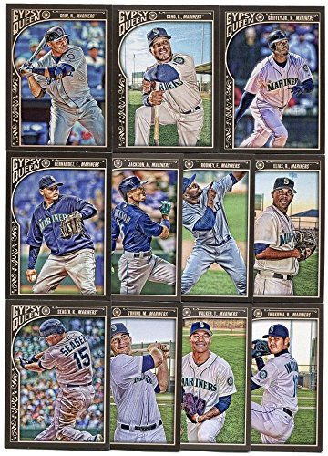 Seattle Mariners 2015 Topps Gypsy Queen MLB Baseball Series Complete Mint 11 Card Team Set with Ken Griffey Jr, Robinson Cano (Team Set Ken)