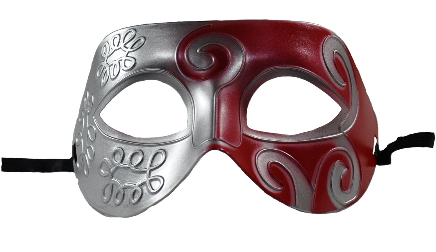 1Bay Men's Swirl Masquerade Mask With Body Jewelry Tattoos O/S Multicolor