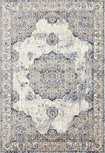 61iWHGQxN2L - 4678 Distressed Ivory 5 x 7 Area Rug Carpet Large New