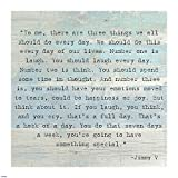 Three Things, Jimmy V Quote Art Print, 16 x 16 inches