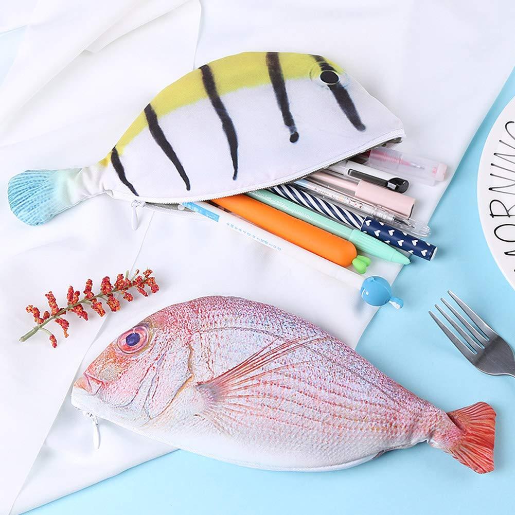 PoeHXtyy Fisch Form Kreative Federm/äppchen Federbeutel Geldb/örse Handytasche Stift Box Schulbedarf