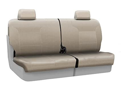 Awe Inspiring Coverking Custom Fit Rear 50 50 Split Bench Seat Cover For Select Ford Explorer Models Premium Leatherette Solid Cashmere Caraccident5 Cool Chair Designs And Ideas Caraccident5Info
