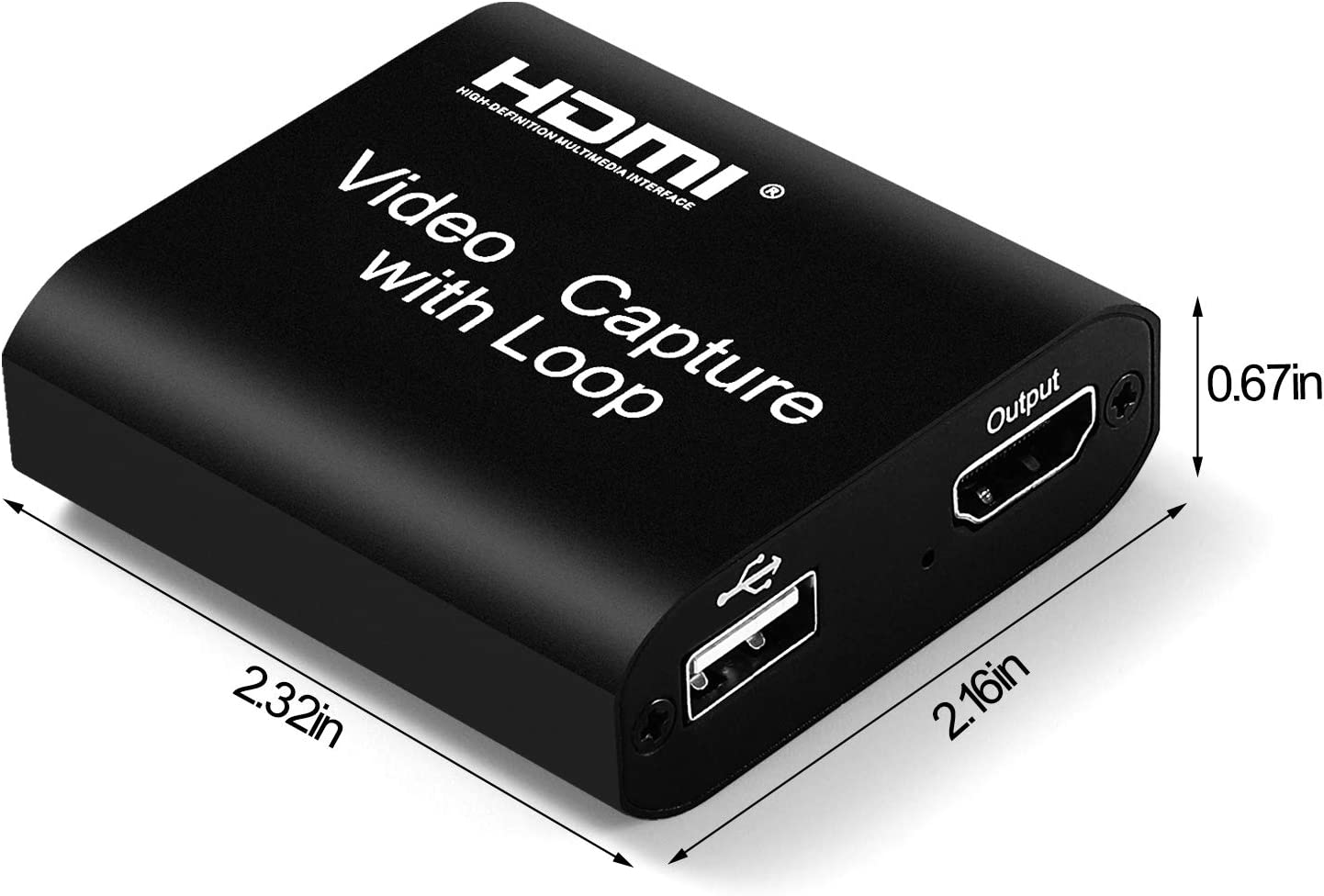 No Driver Needed Easy Operation XIANREN HDMI Capture Card 1080p USB 2.0 UVC and UAC Video Recorder Device Box,Game Broadcast Live Streaming Capture Card