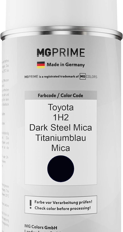 Mg Prime Autolack Sprühdosen Set Für Toyota 1h2 Dark Steel Mica Titaniumblau Mica Basislack Klarlack Spraydose 400ml Auto