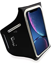 RevereSport Armband for iPhone XR. Lightweight Running Armband with Extra Pockets for Keys, Cash and Bank Cards. Phone Arm Holder for Sports, Gym Workouts and Exercise