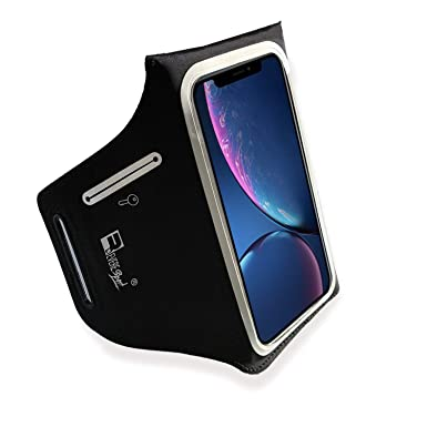 RevereSport Armband for iPhone XR  Lightweight Running Armband with Extra  Pockets for Keys, Cash and Bank Cards  Phone Arm Holder for Sports, Gym