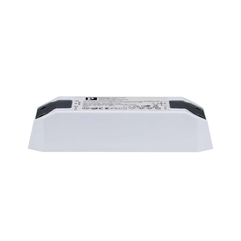 Paulmann 97767 Transformateur électronique Halo+LED 0-65W 230/12V 65VA, Matière Plastique, Blanc, 4,4 x 12,7 x 2,8 cm