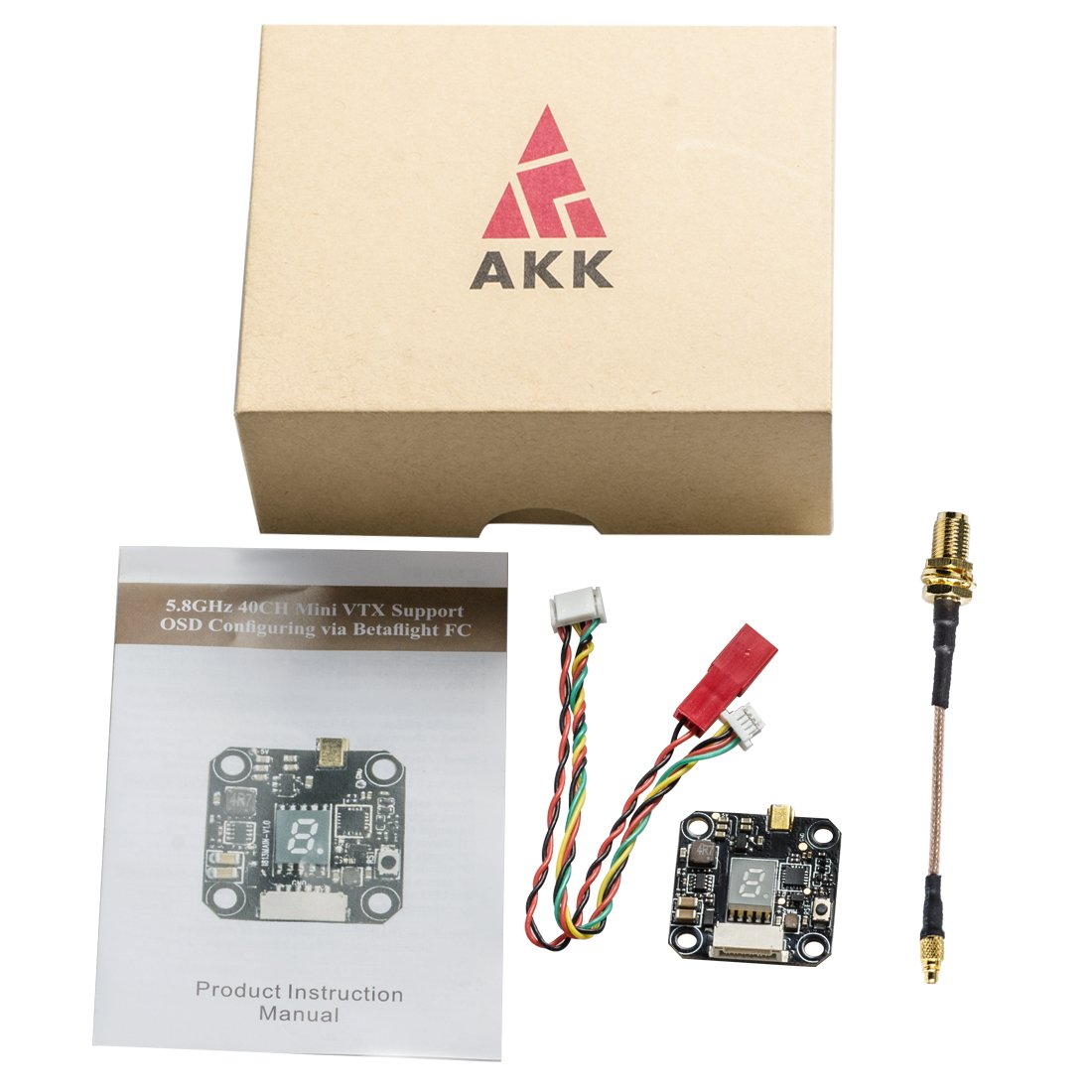 Akk Fx3 58ghz 25mw 200mw 400mw 600mw Switchable Fpv Vtx Wiring Diagram With Mmcx Integrated Osd Fc Configuring Via Betaflight Flight Control Board Toys
