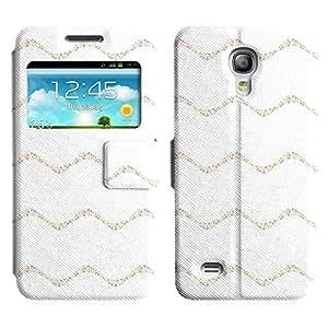 LEOCASE Tiras Onduladas Funda Carcasa Cuero Tapa Case Para Samsung Galaxy S4 Mini I9190 No.1000665