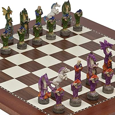 Fantasy Chessmen & Astor Place Chess Board From Spain