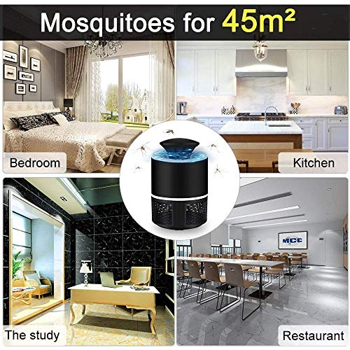 Huntingood Electric Mosquito Insect Killer/Bug Zapper with 360 Degrees LED Trap Lamp for Indoor(White)