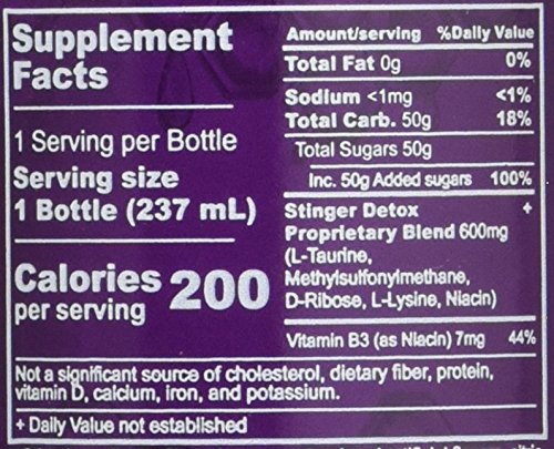 Stinger 1-Hour Detox Liquid Drink 5x Strength Grape 8oz 2PK The Buzz Cleanser by Stinger (Image #2)