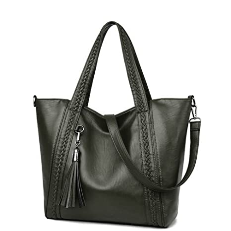 9faa0080b1ca Amazon.com: UOXMDNJC Style Large Size Women Bag Pu Leather Handbags ...