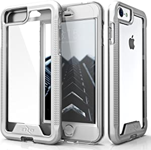 ZIZO ION Series for iPhone SE (2020) / iPhone 8 / iPhone 7 Case - Silver & Clear