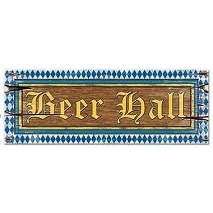 "8/"" x 22/"" Oktoberfest Beer Hall Sign Size"