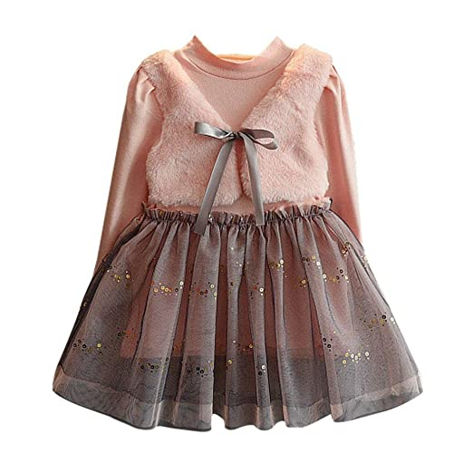170e9f23a219 Amazon.com  CSSD Toddler Kids Baby Girl Winter Clothes Bowknot ...