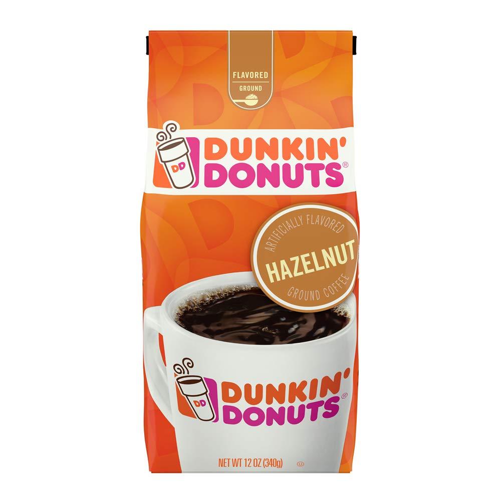Dunkin' Donuts Hazelnut Flavored Ground Coffee, 12 Ounce