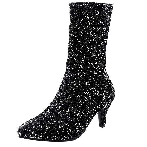 Stretch Femmes RAZAMAZA Talons Socks à Boots Bottines Petite tQBshrxdCo