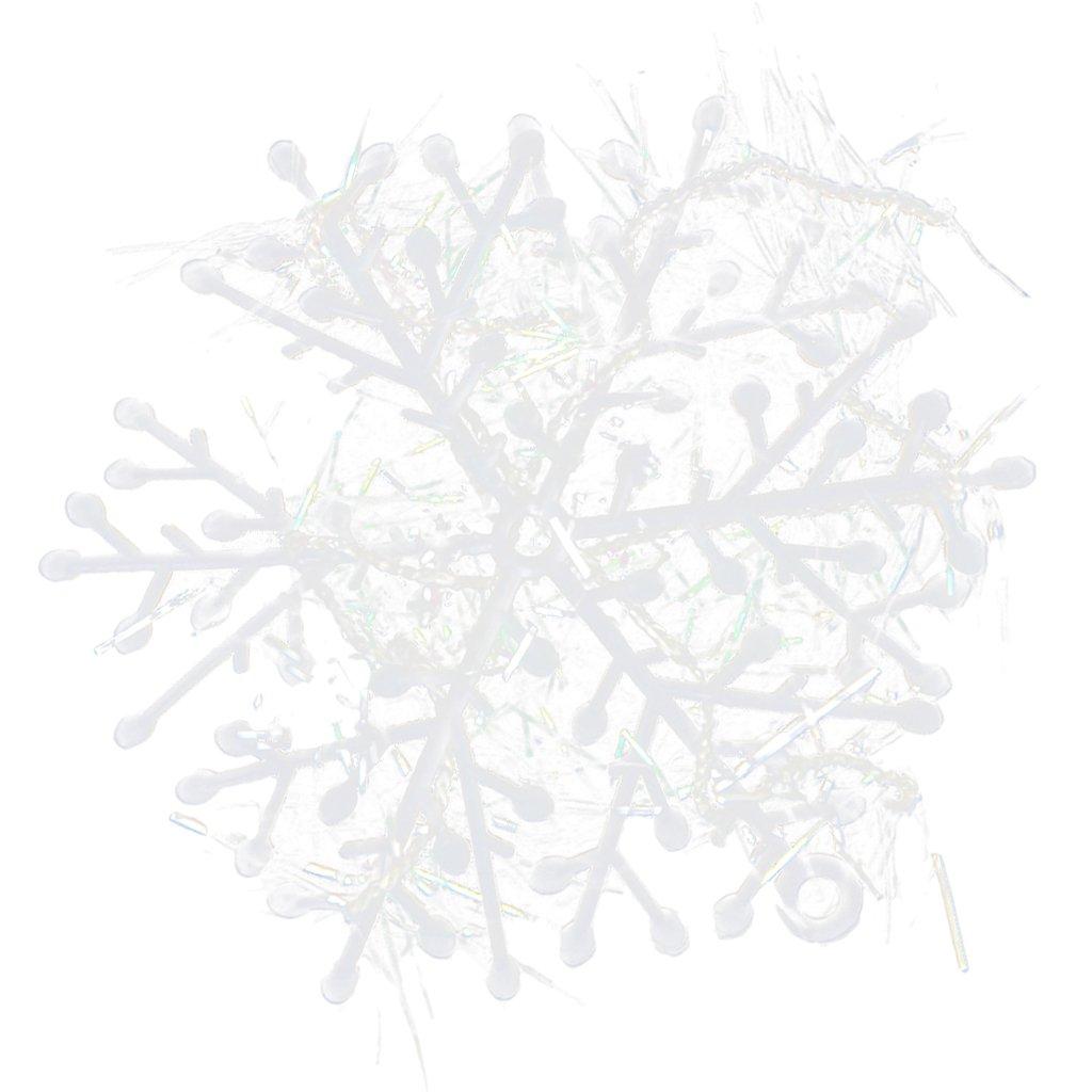 Paquetes Con Piezas De Copos Nieves Para Árbol De Navidad Colgantes Adornos Blanco