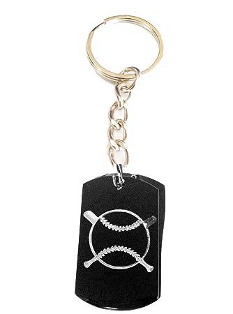 Amazon.com: Cruz Bate de béisbol deportes logotipo – Anillo ...