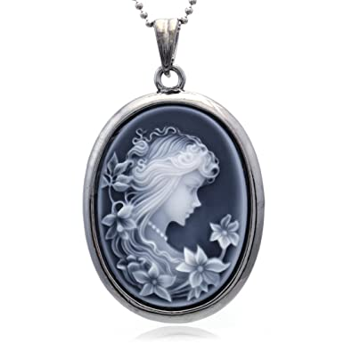66d716536dcb3 Soulbreezecollection Cameo Pendant Necklace Charm Fashion Jewelry Gift for  Women