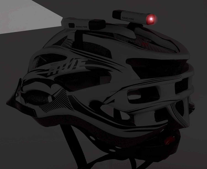 AWEつ Nano FireTM USB 24 Lumens Rechargeable Helmet Light Set Front/Rear White CE Approved by AWE   B00J4QP8GW