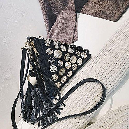 Joker Black Bag Women's Crossbody Badge Triangle Bag Shoulder Messenger Bag Bag ZCM Korean 46cqwg8F8W