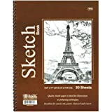 "BAZIC 30 Ct. 8.5"" X 11"" Side Bound Spiral Premium Sketch Book"