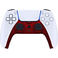 eXtremeRate Scarlet Red Decorative Trim Shell for DualSense 5 Controller, Soft Touch DIY Replacement Clip Shell for PS5…