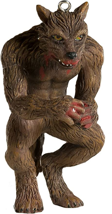 werewolf horror ornament scary prop and decoration for halloween christmas parties and