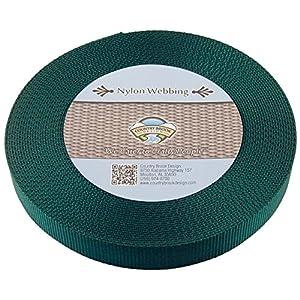 Country Brook Design | Heavy Nylon Webbing (1 inch) (Green, 10 Yards)