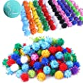 """Rimobul Standard 10 Colors Sparkle Balls My Cat's All Time Favorite Toy - 1.5"""" - 100 Pack"""