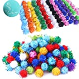 Rimobul Standard 10 Colors Sparkle Balls My Cat's All Time Favorite Toy - 1.5'' - 100 Pack