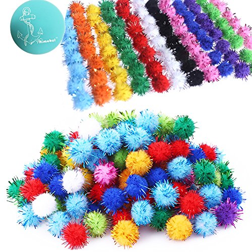 Rimobul Standard 10 Colors Sparkle Balls My Cat's All Time Favorite Toy - 1.5' - 100 Pack