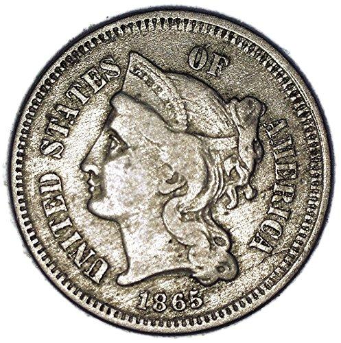 1865 Nickel Three-Cent Piece XF-40