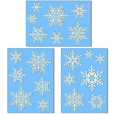 Large Snowflake Window Clings Quick And Simple Christmas - Snowflake window stickers amazon